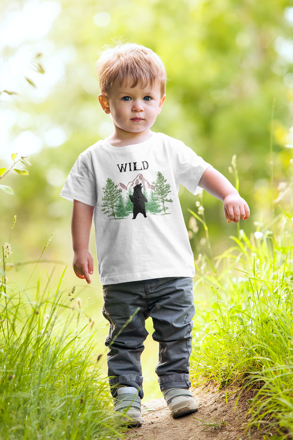 Wild Standing Grizzly Bear Wilderness Shirt Kids Tee - FireCreekMercantile