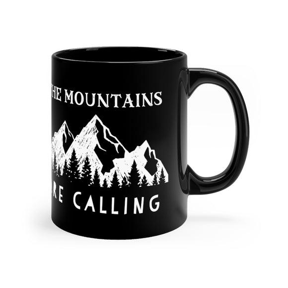 The Mountains Are Calling, Mountain Peaks Mug 11oz - FireCreekMercantile