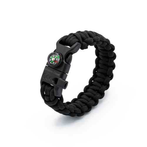 10 in 1 Paracord Bracelet (Black)