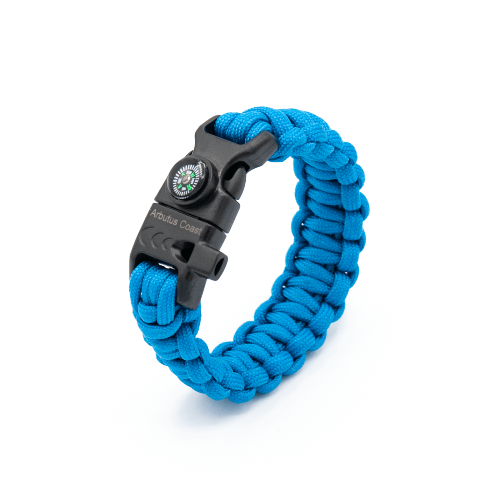 10 in 1 Paracord Bracelet (Blue)