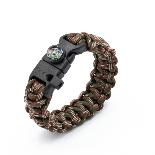 10 in 1 Paracord Bracelet (Camo)