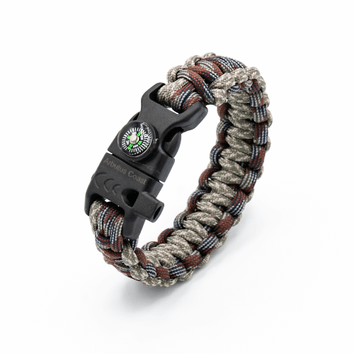 5-in-1 Paracord Bracelet (Grey Blue Camo)
