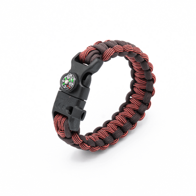 5 in 1 Paracord Bracelet (Burgandy/Brown)