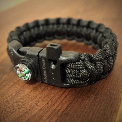 5 in 1 Paracord Bracelet (Black)
