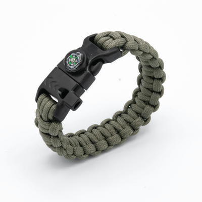 5 in 1 Paracord Bracelet (Kaki)