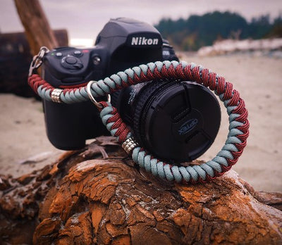 Camera Wrist Strap (Burgandy/Grey)