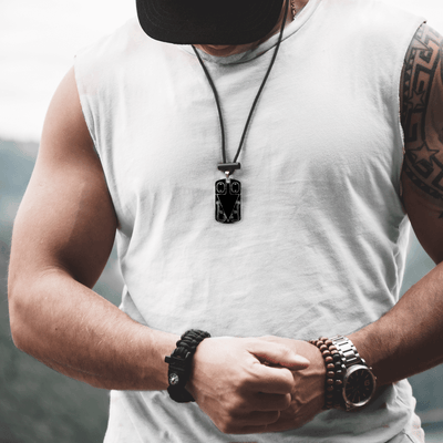 8 in 1 Survival Necklace (Black)
