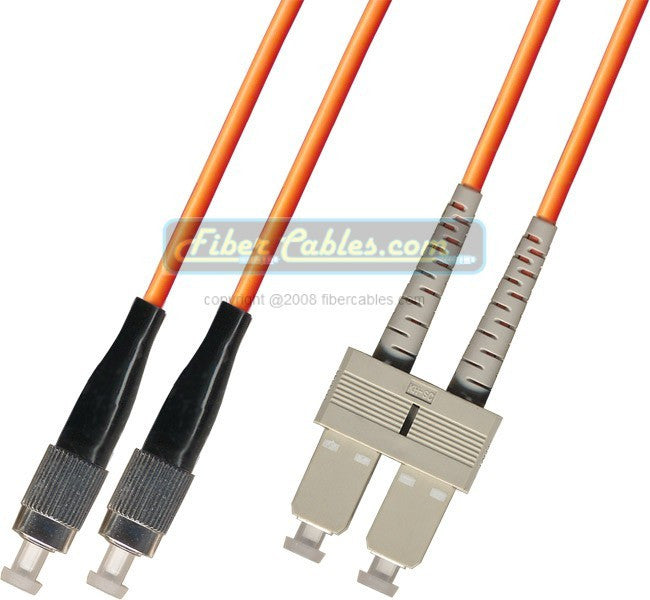 OM2 - Multimode (50/125) - Duplex - Fiber Optic Cable - FC to SC