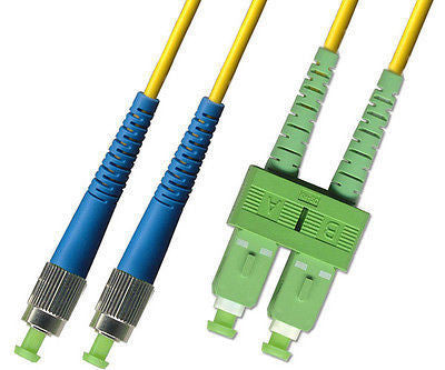 APC/UPC - Singlemode (9/125) - Duplex - Fiber Optic Cable - SC-APC to FC-UPC
