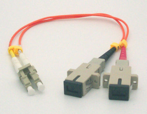1FT LC Male to SC Female Adapter Cable - Multimode (62.5/125) - Duplex