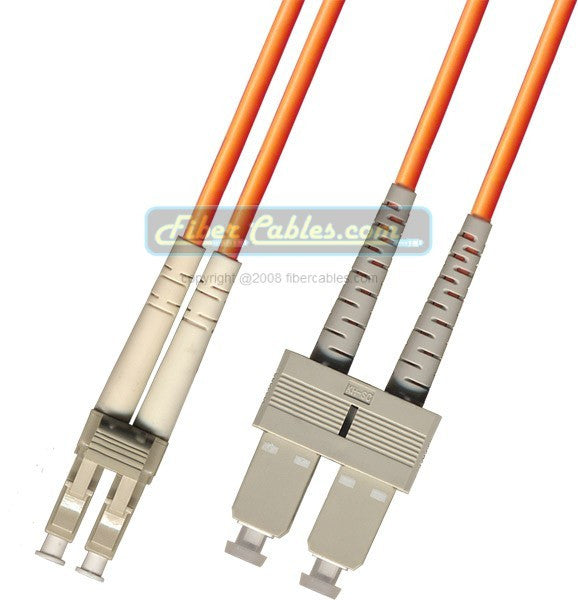 OM2 - Multimode (50/125) - Duplex - Fiber Optic Cable - LC to SC