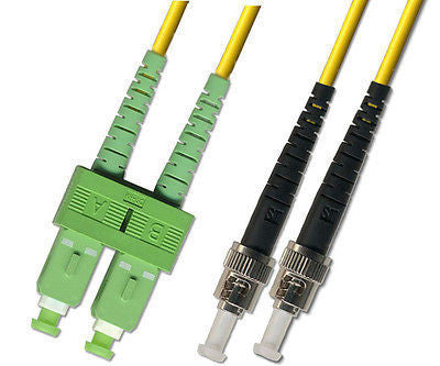 APC/UPC - Singlemode (9/125) - Duplex - Fiber Optic Cable - SC-APC to ST-UPC