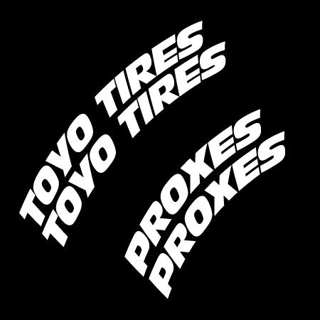 toyo tires proxes full kit tire stickers tire stickers kp pigments