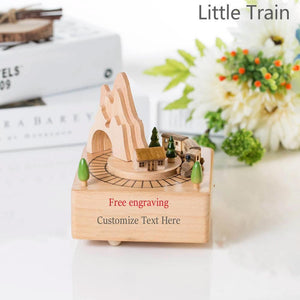 Custom Free Engrave Text Music Box (🚂Buy 2 Free Shipping✨)