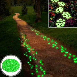 (50% OFF SALE) Glow-In-The-Dark Luminous Garden Pebbles - 100pcs