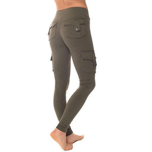 Eco-Friendly Bamboo Pockets Stretchy Soft Leggings Yoga Pants