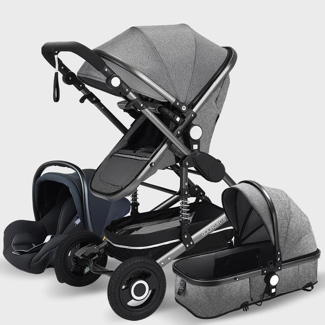 Luxury  Baby Stroller High Landview 3 in 1 Baby Stroller  Portable Baby Pushchair Baby Pram  Baby Comfort for Newborn