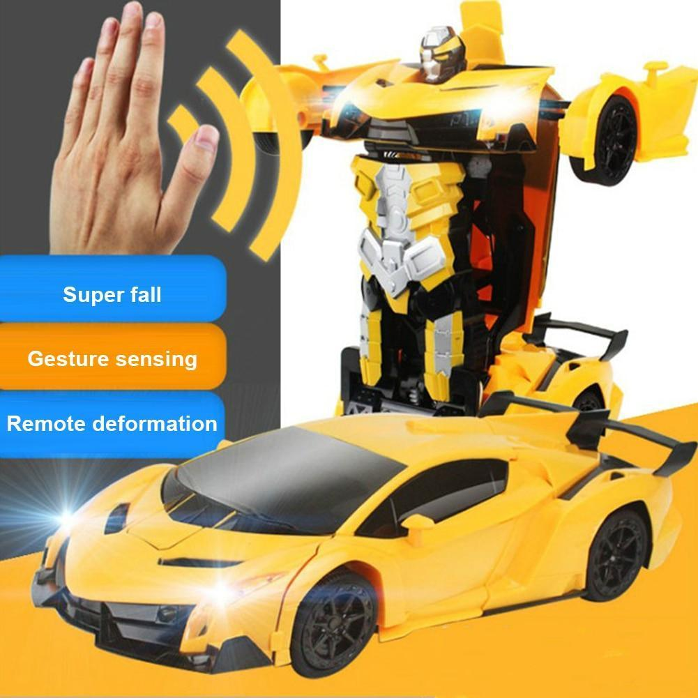 (50% Off - Today Only) GESTURE CONTROL TRANSFORMATION RC ROBOT STUNT CAR
