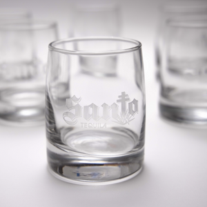 Etched Santo Glasses - 2 Pack