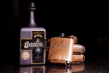 Load image into Gallery viewer, Leather-Wrapped Santo Flask