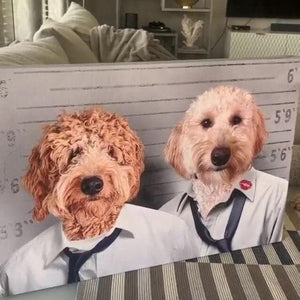 The Crook Brothers - Custom Pet Canvas