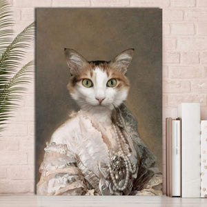 Classy Lady - Custom Pet Canvas