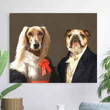 Load image into Gallery viewer, Miss Charming and the Aristocrat - Custom Pet Canvas