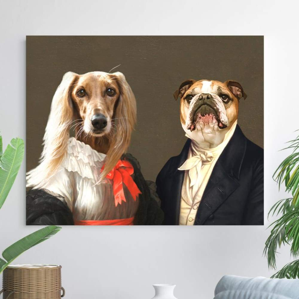 Miss Charming and the Aristocrat - Custom Pet Canvas