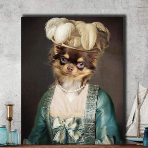 Miss Elegance - Custom Pet Canvas