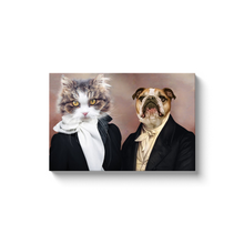 Load image into Gallery viewer, Miss Glamour and The Aristocrat - Custom Pet Canvas