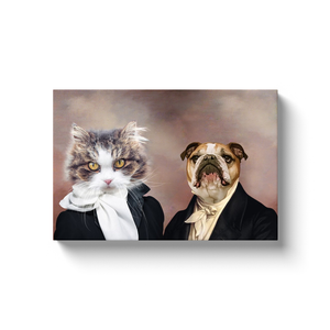 Miss Glamour and The Aristocrat - Custom Pet Canvas