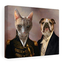 Load image into Gallery viewer, The Admiral and the Aristocrat - Custom Pet Canvas