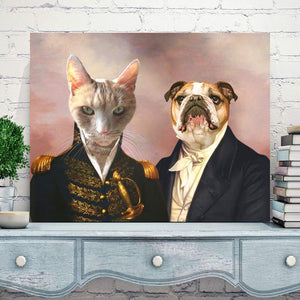 The Admiral and the Aristocrat - Custom Pet Canvas