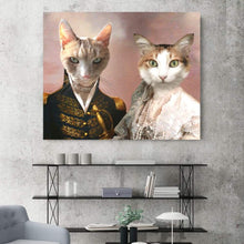 Load image into Gallery viewer, The Admiral and Classy Lady - Custom Pet Canvas