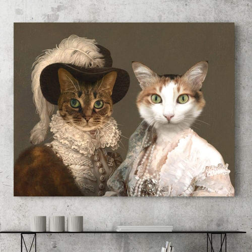The Baroness and Classy Lady - Custom Pet Canvas