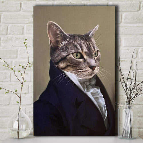The Diplomat - Custom Pet Canvas