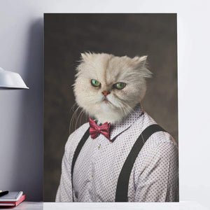 The Hipster - Custom Pet Canvas