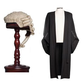wig and gown set
