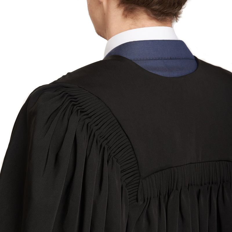 Graduation gown fluting detail
