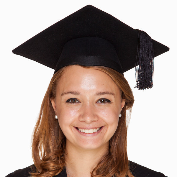 Black felt mortarboard