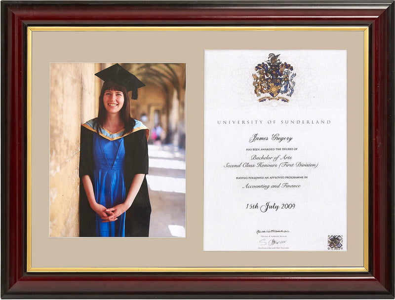Traditional Degree And Photo Frame