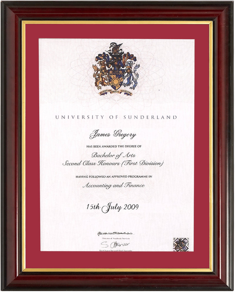 Traditional Degree Frame
