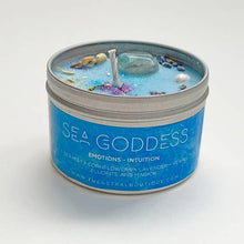 Load image into Gallery viewer, Sea Goddess Crystal Candle