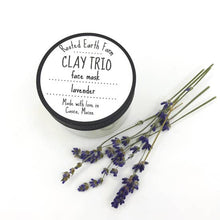 Load image into Gallery viewer, Clay Trio Lavender Face Mask