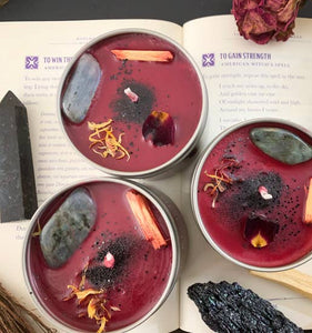 Dragon's Blood Crystal Candle
