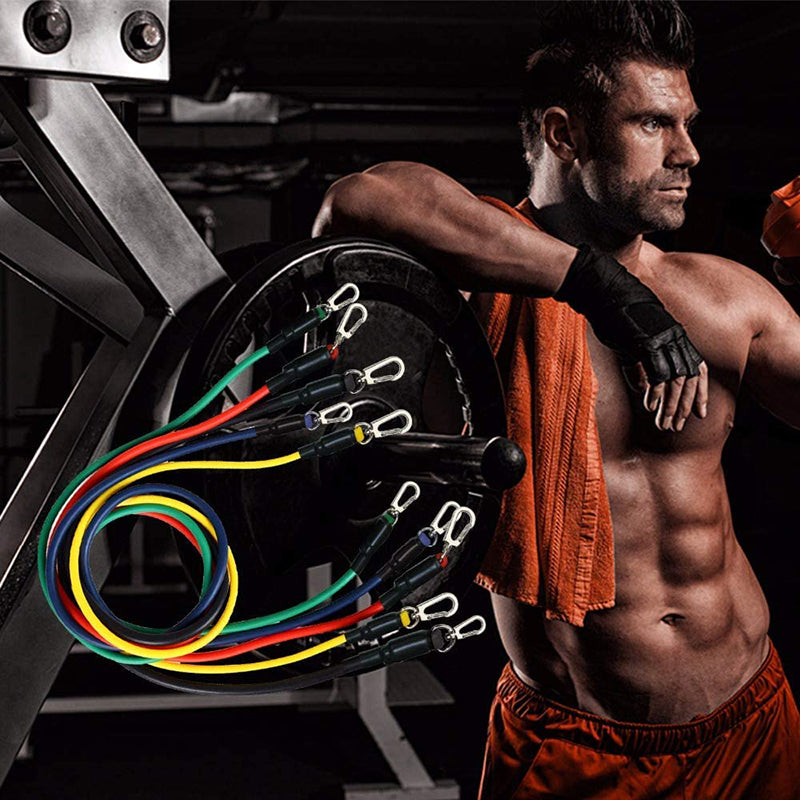 11 Piece Resistance Band Fitness Set