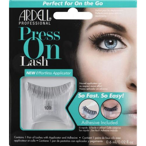 Ardell Press On Lash with Adhesive Pipette 109 Black