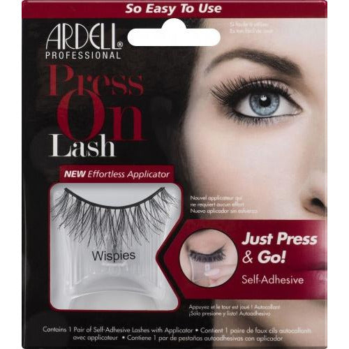 Ardell Press On Lash Self-Adhesive Wispies Black