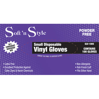 Soft N Style Clear Vinyl Gloves - 100pk