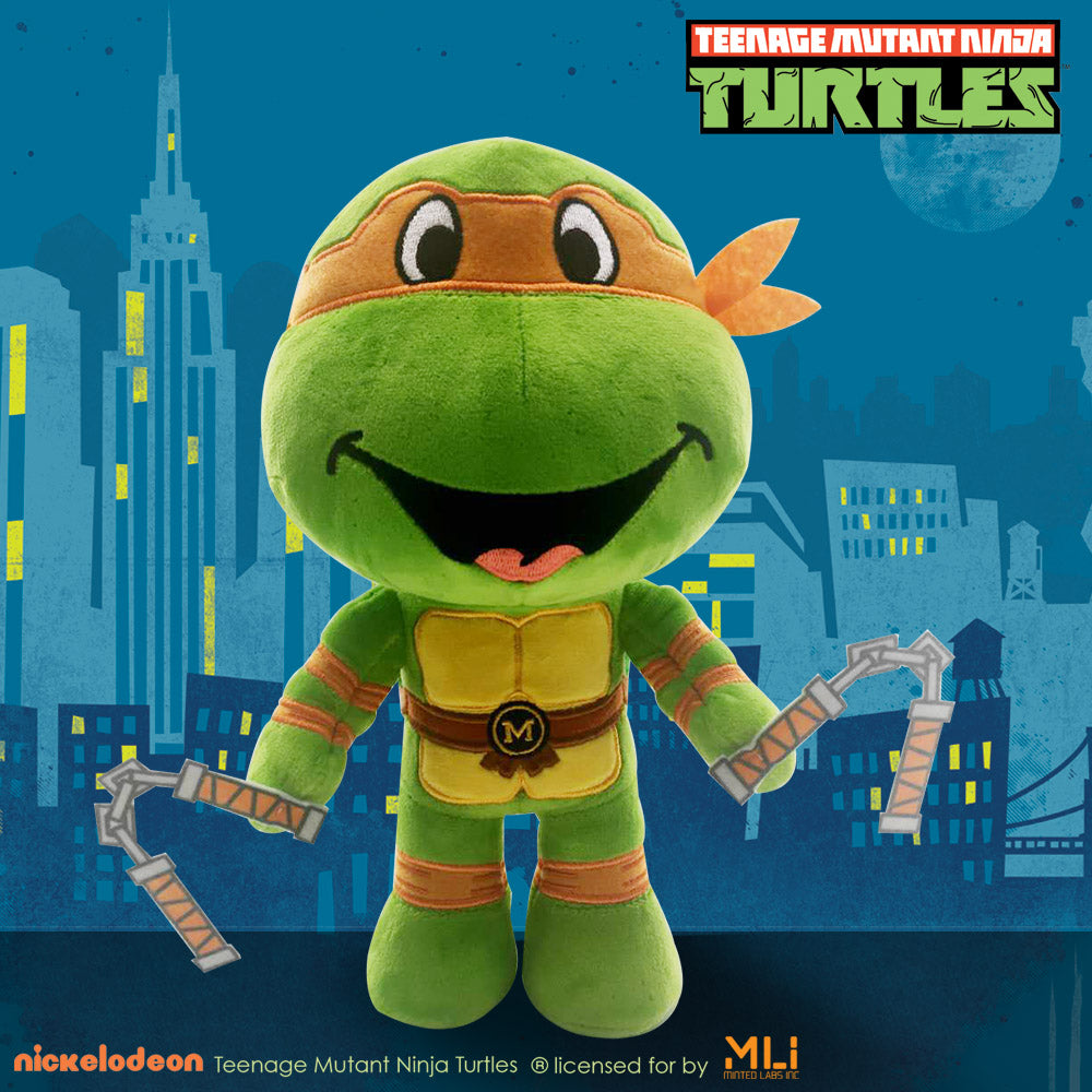 "Teenage Mutant Ninja Turtles 9"" Poseable Plush Michelangelo"